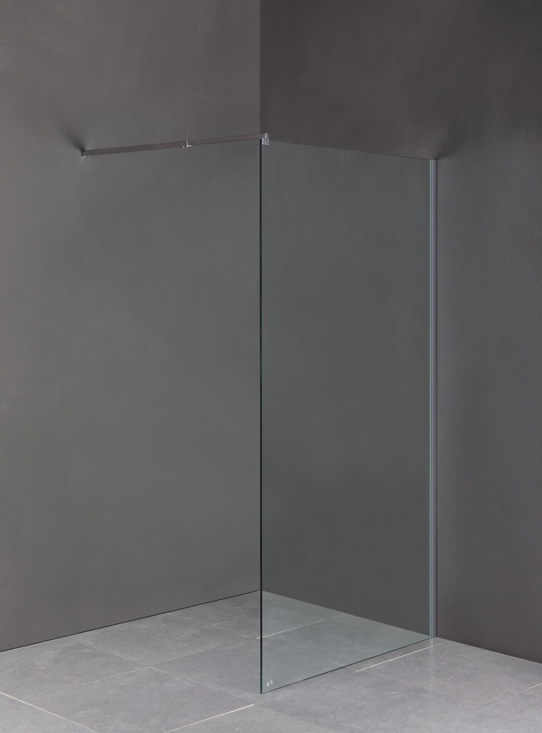 1100 x 2000mm Frameless 10mm Safety Glass Shower Screen  Z2536