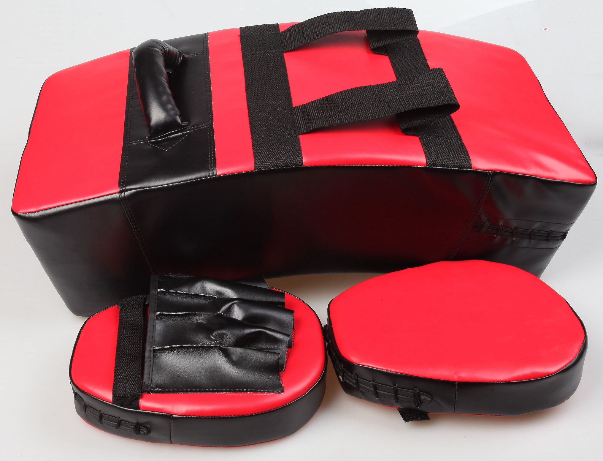 Kicking Boxing Sparring Shield & Punching Pad Mitts Combo  Z2561