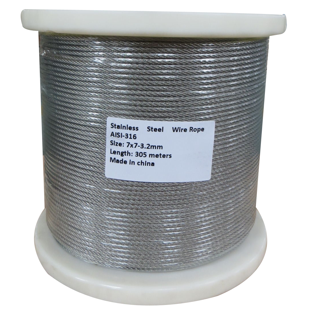305M G316 STAINLESS STEEL WIRE ROPE 3.2MM BALUSTRADE  Z2573