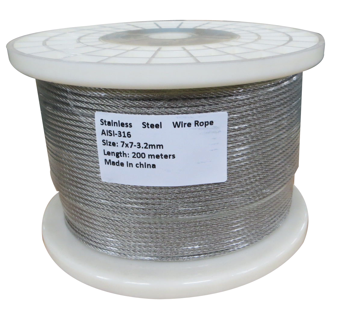 200M G316 STAINLESS STEEL WIRE ROPE 3.2MM BALUSTRADE  Z2574