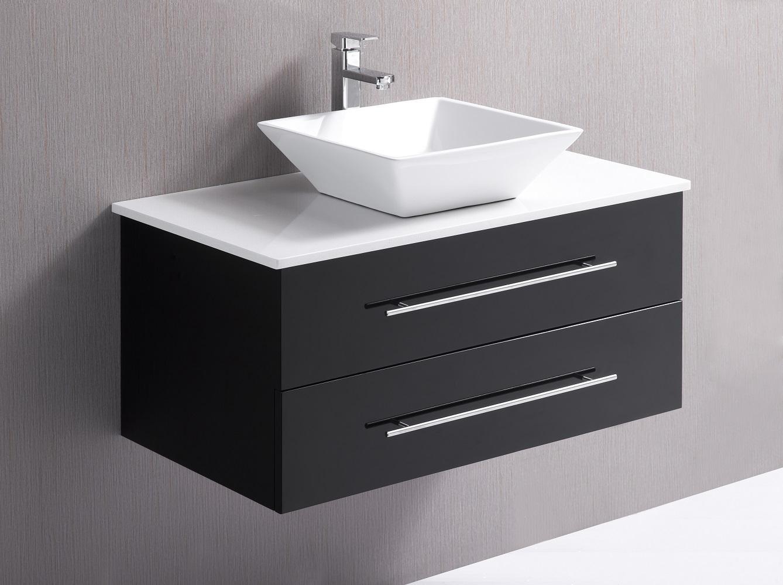 900mm Wall Hung Bathroom Vanity Unit With Stone Top, Basin - Della Francesca  Z2599