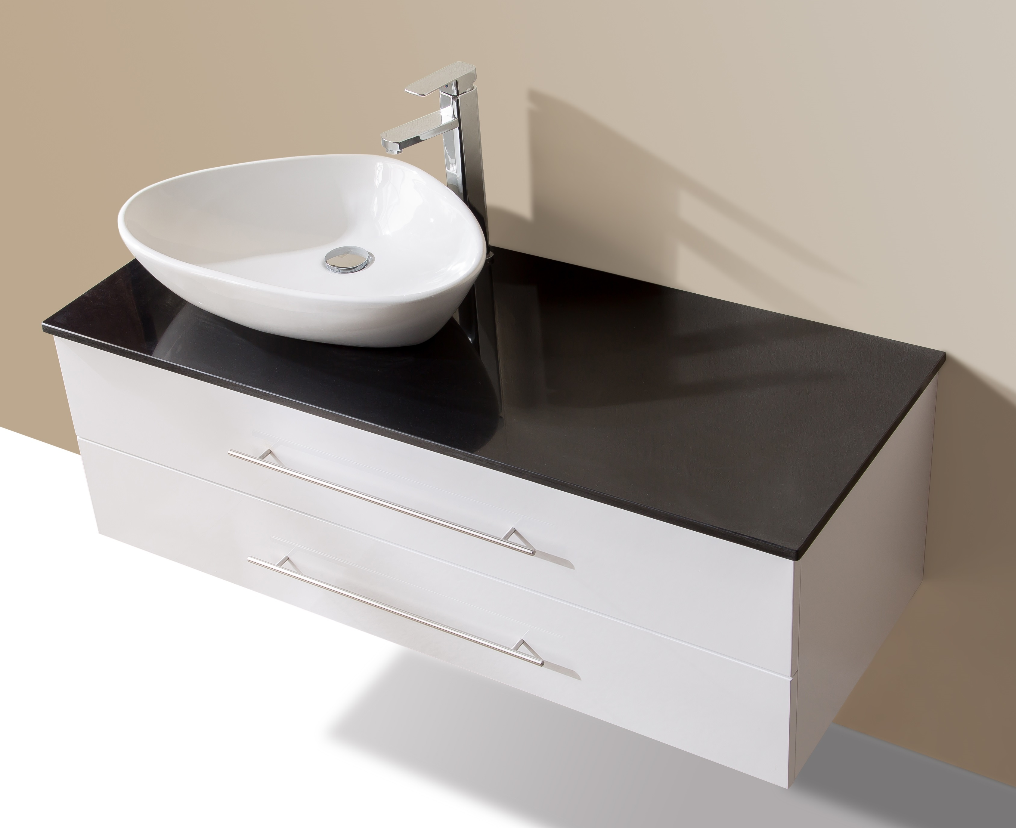 1200mm Wall Hung Bathroom Vanity Unit With Stone Top, Basin - Della Francesca  Z2601