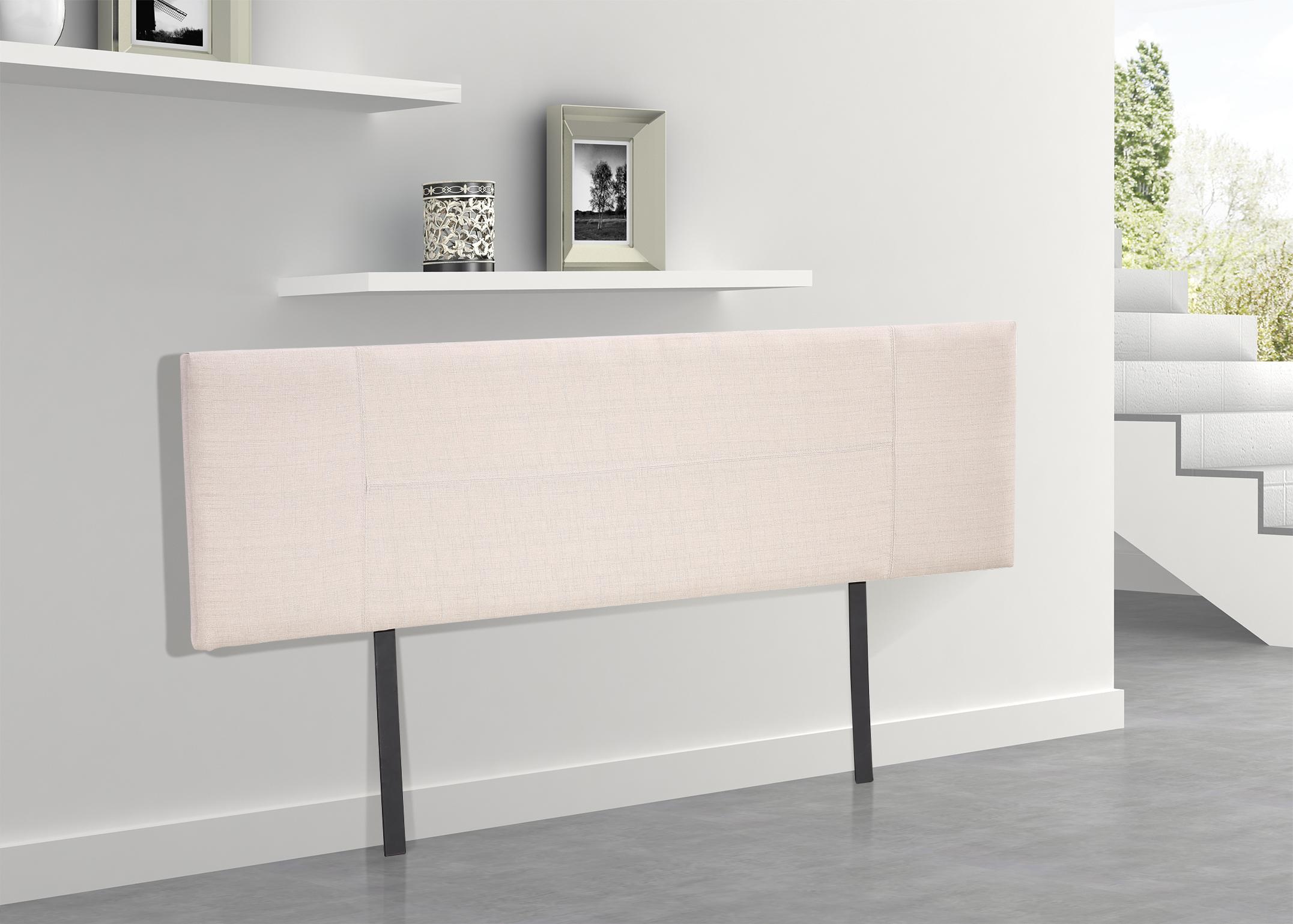 Linen Fabric King Bed Headboard Bedhead - Beige  Z2628