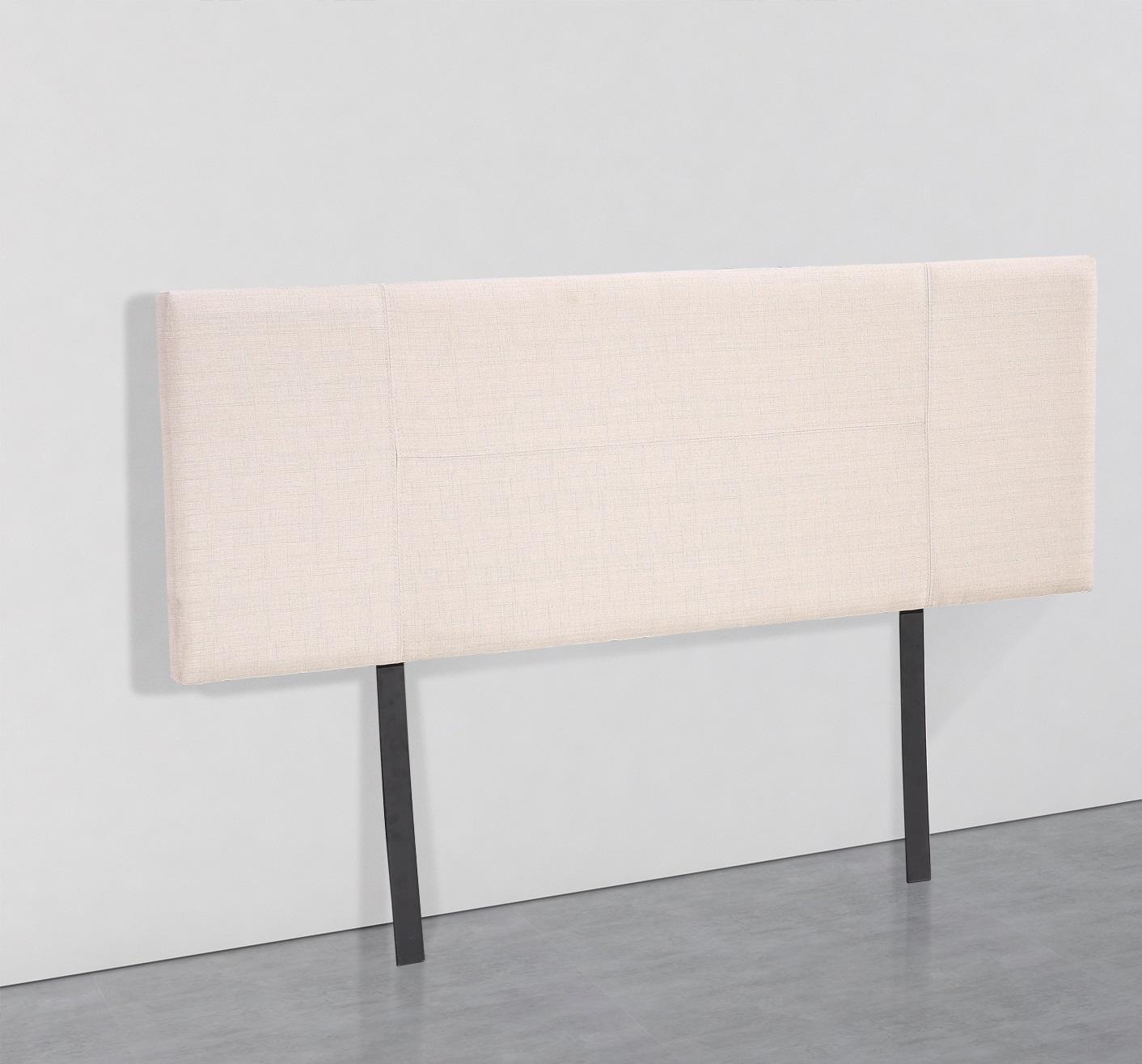 Linen Fabric Queen Bed Headboard Bedhead - Beige  Z2630