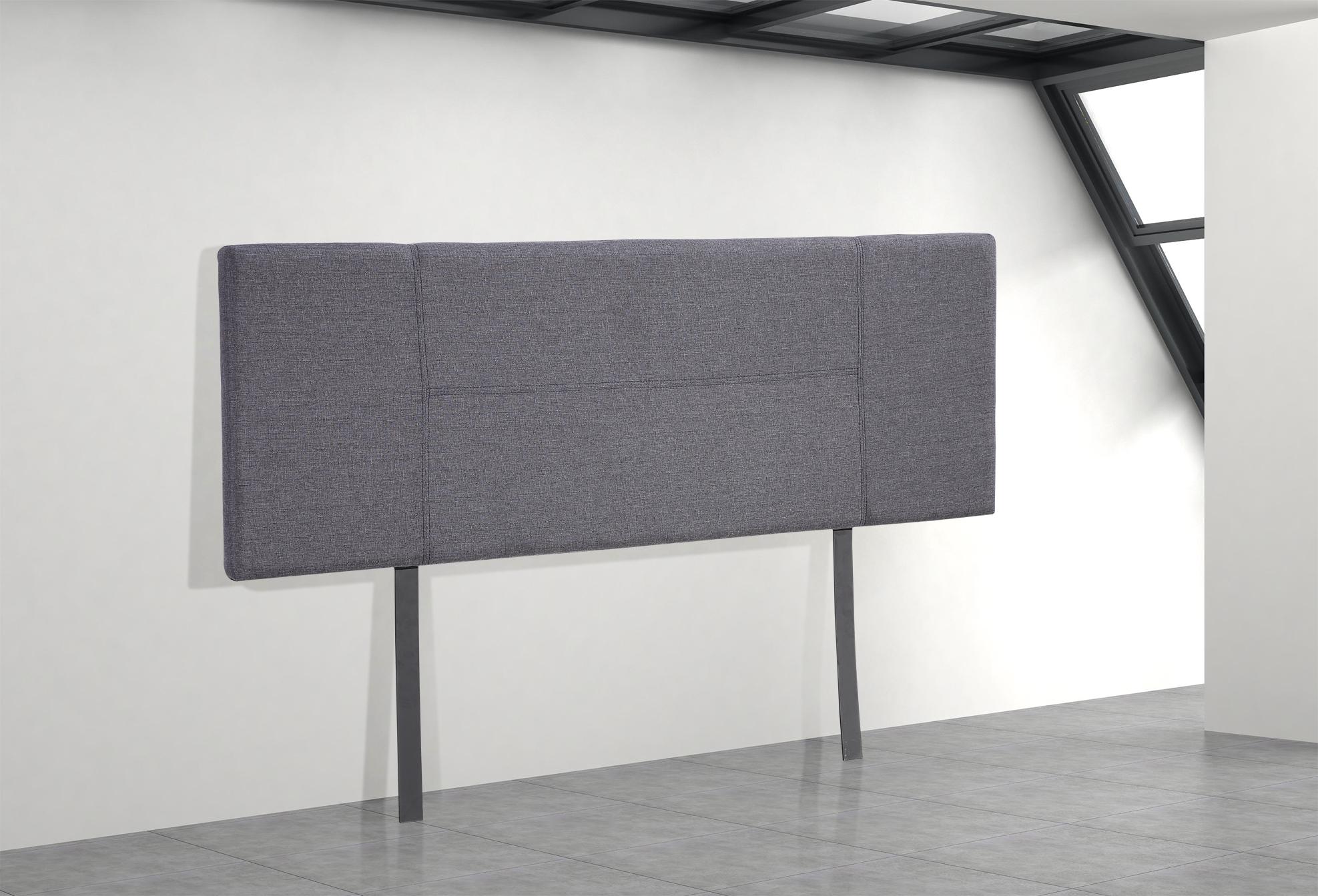 Linen Fabric Double Bed Headboard Bedhead - Grey  Z2631
