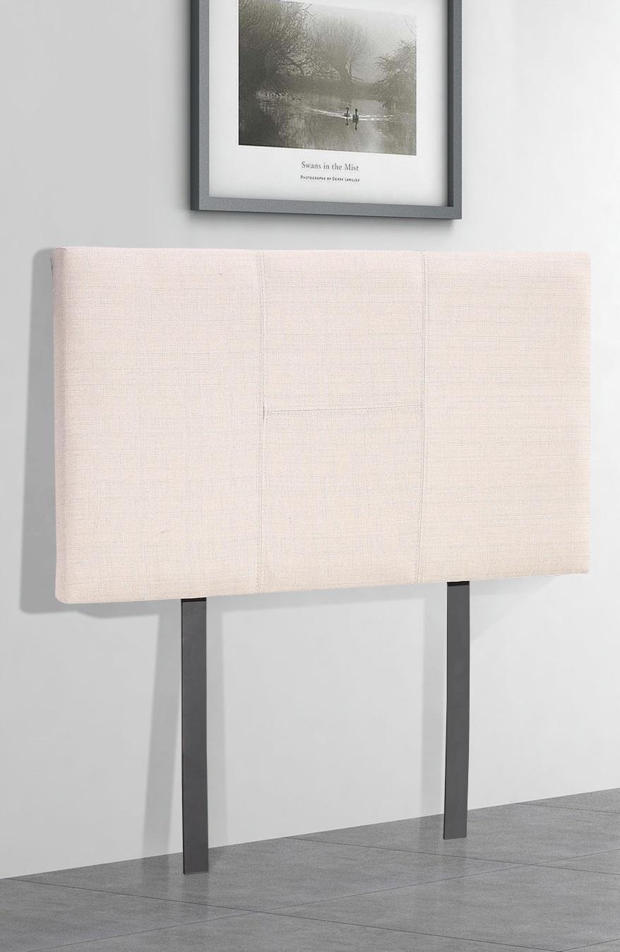Linen Fabric Single Bed Headboard Bedhead - Beige  Z2634