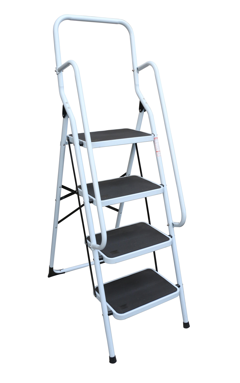 Foldable Non Slip 4 Step Steel Ladder  Z2666