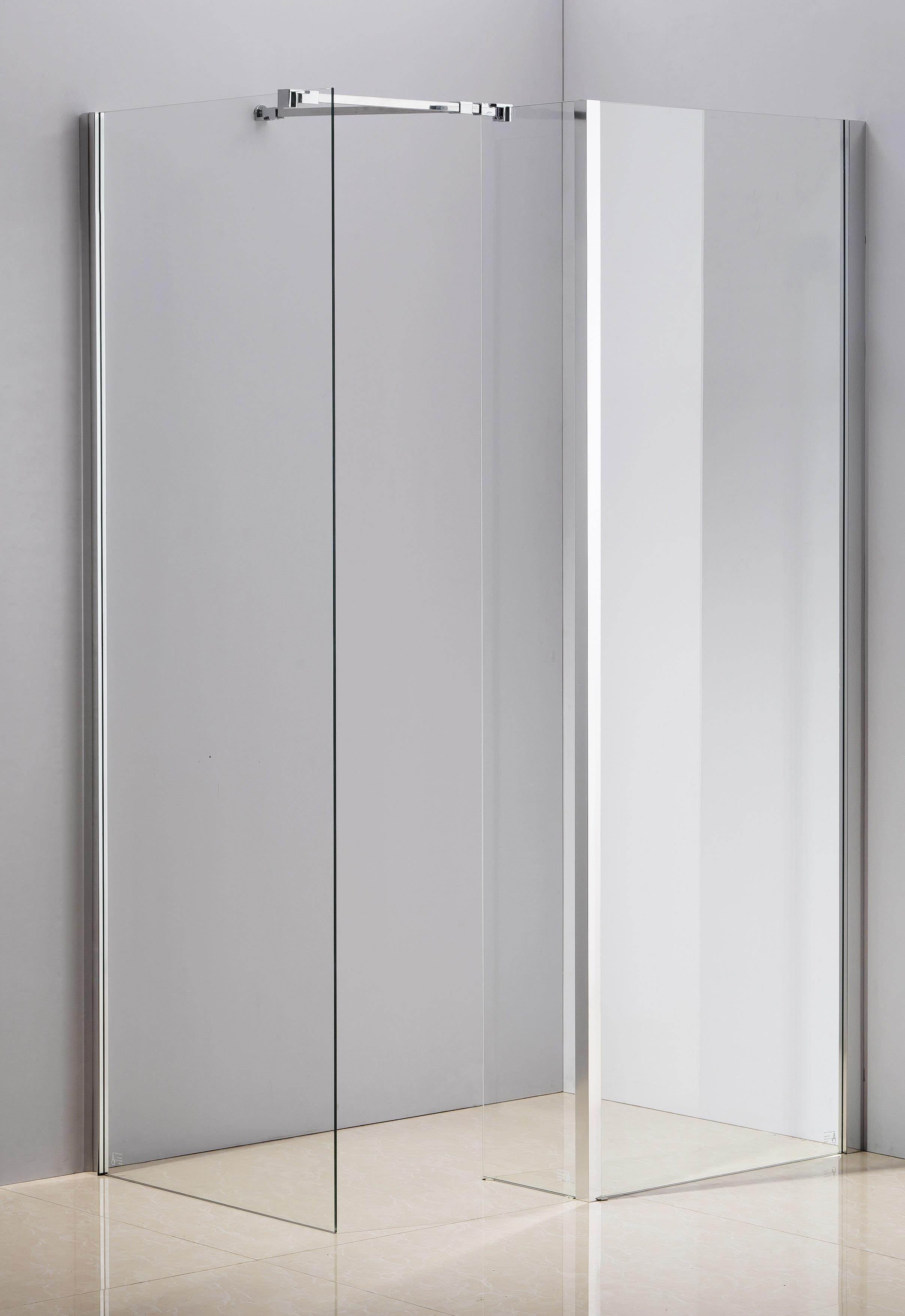 1200x800mm Walk in Shower Enclosure Safety Glass Shower By Della Francesca  Z2678