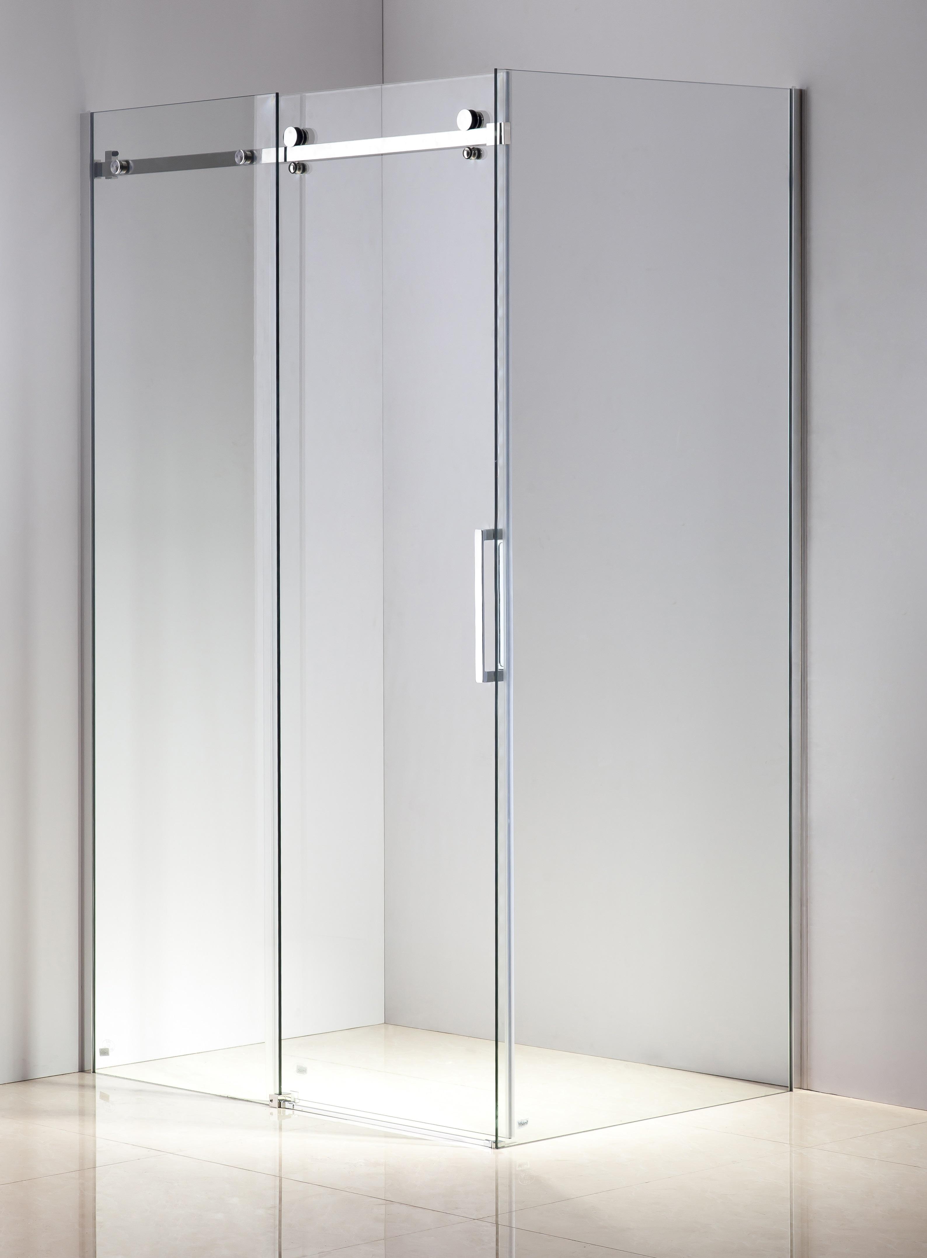 Shower Screen 1200x900x1950mm Frameless Glass Sliding Door By Della Francesca  Z2679