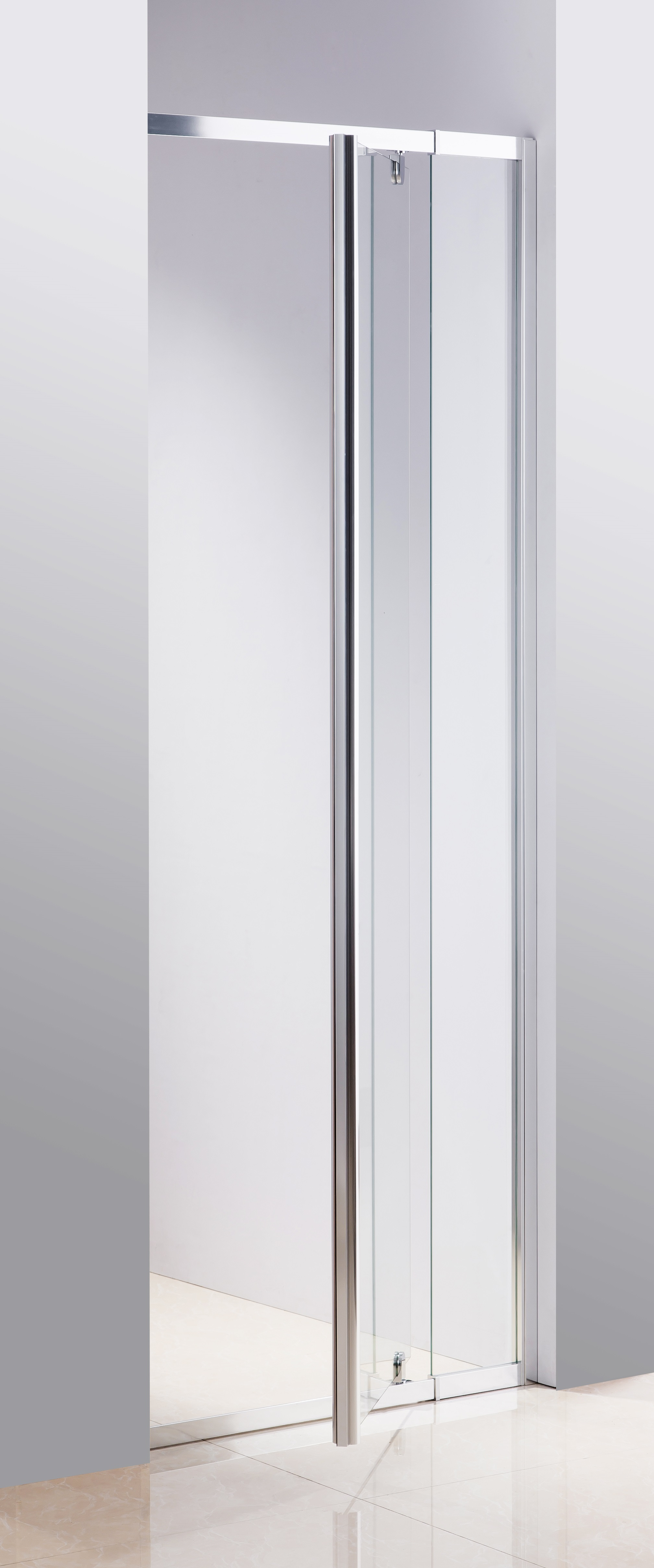 820-900 Finger Pull Wall to Wall Shower Screen By Della Francesca  Z2680