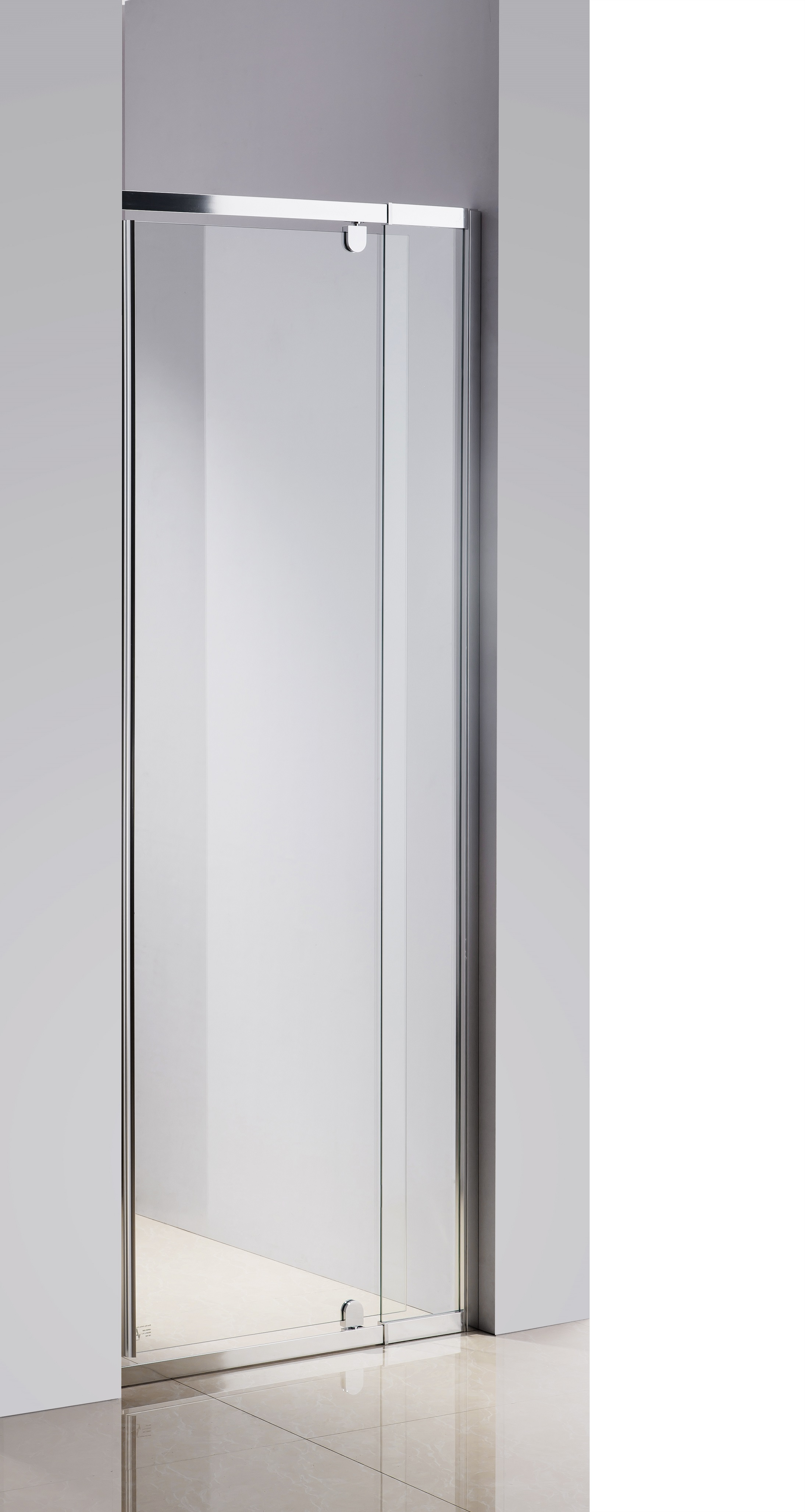 720-800 Finger Pull Wall to Wall Shower Screen By Della Francesca  Z2681