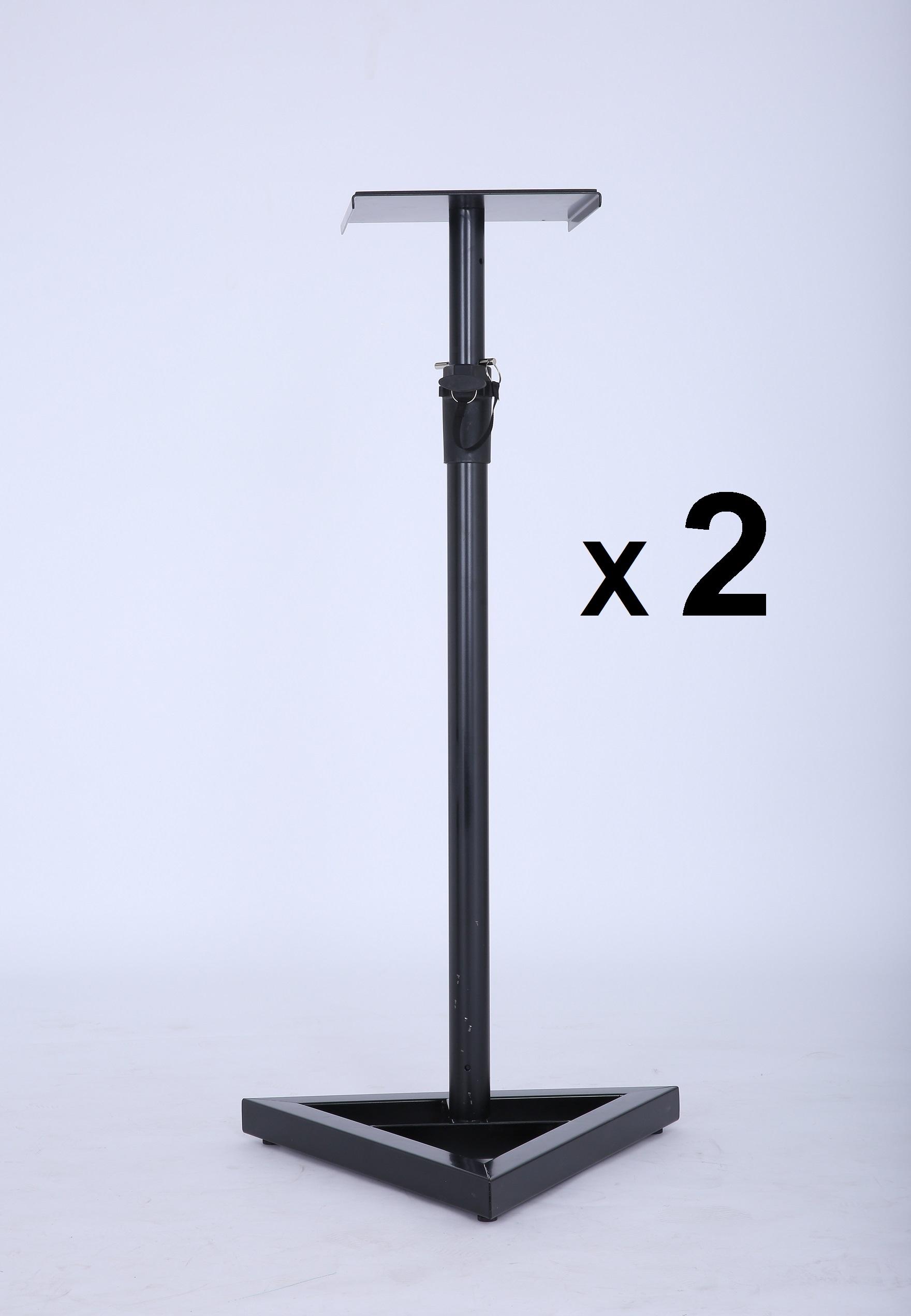2X PA Studio Monitor Speaker Floor Stand  Z2684