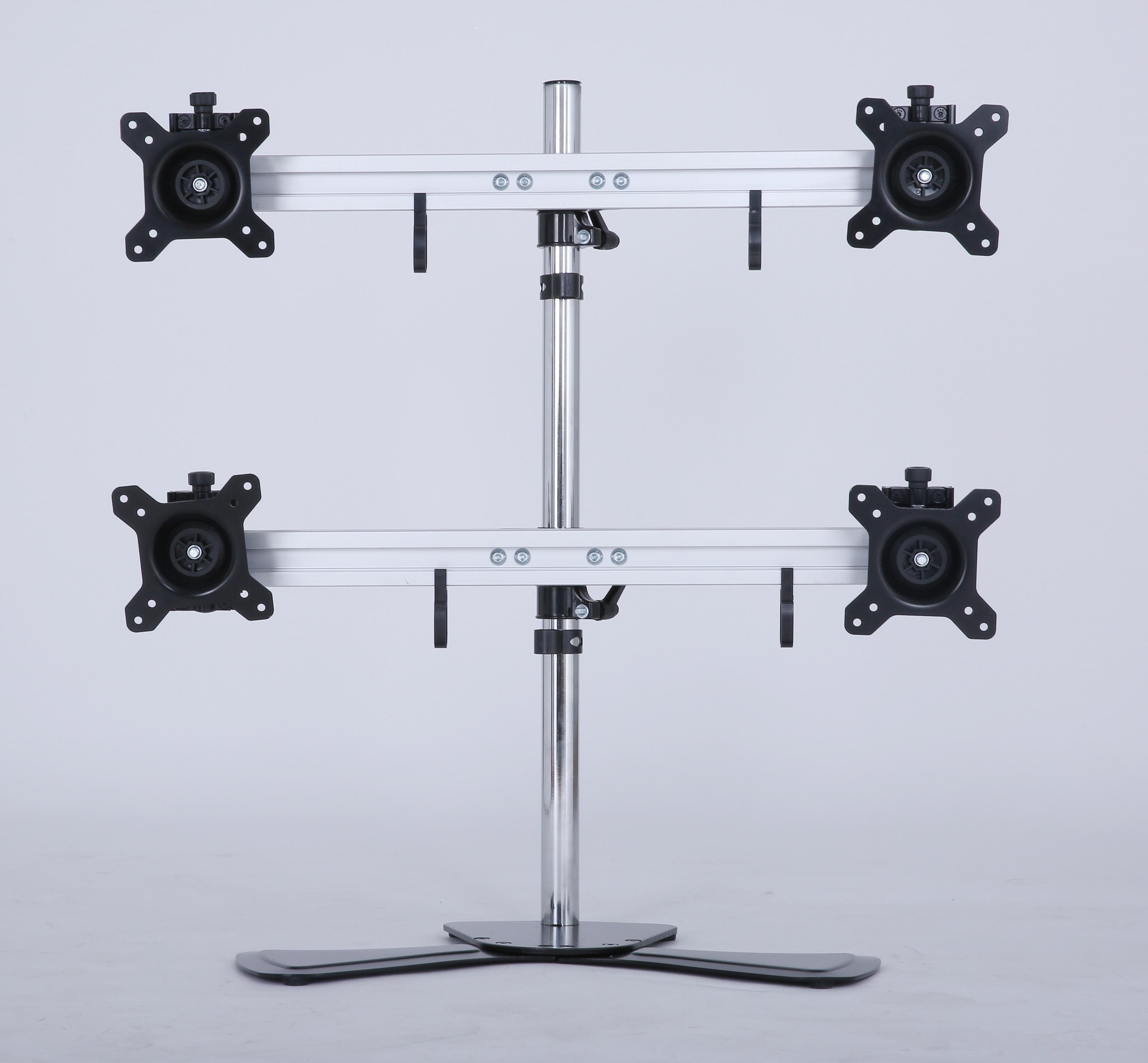 Quad/4/Four XL LCD Monitor Desktop Freestanding Mount Stand  Z2686