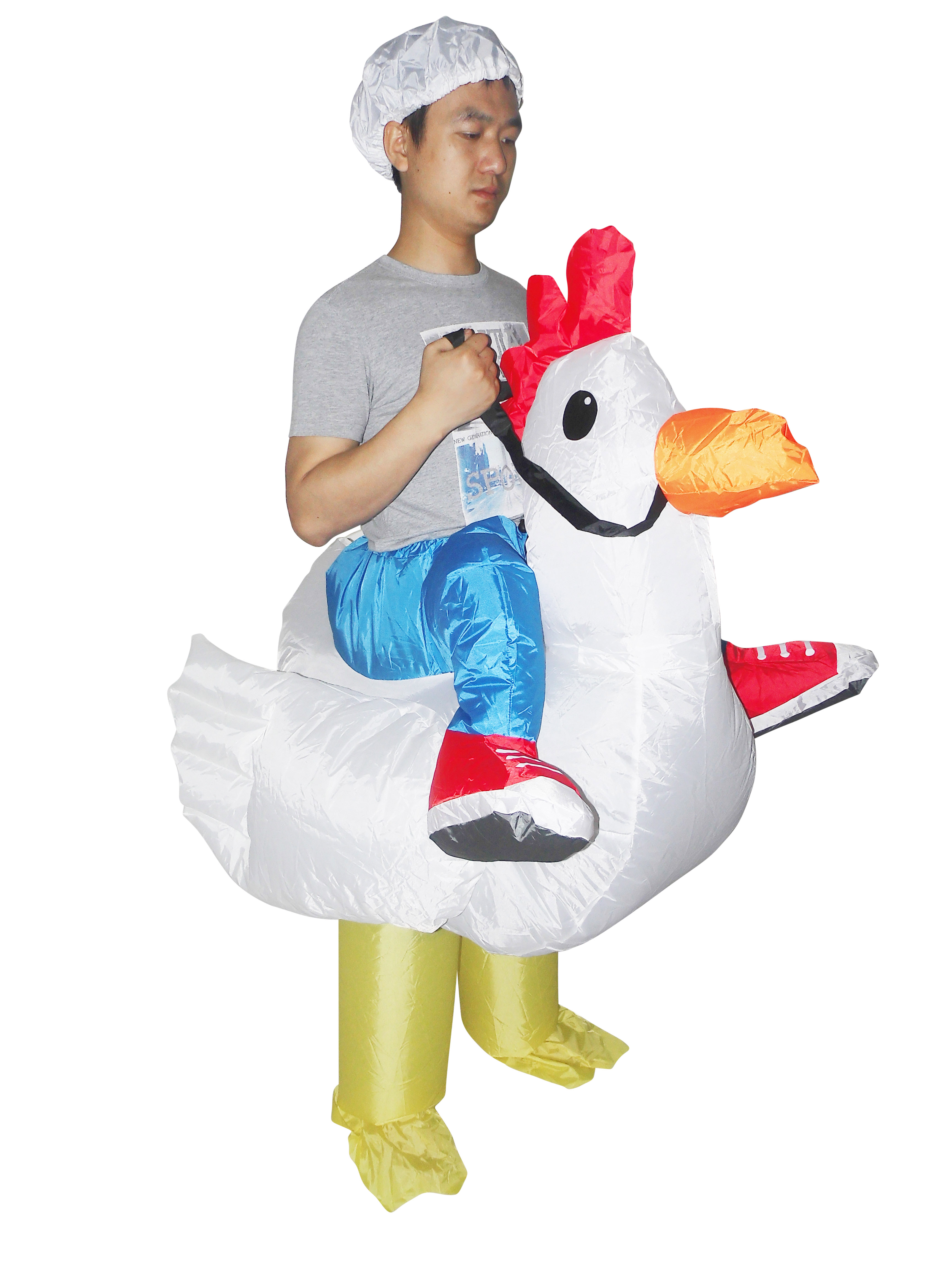 CHICKEN Fancy Dress Inflatable Suit -Fan Operated Costume  Z2687