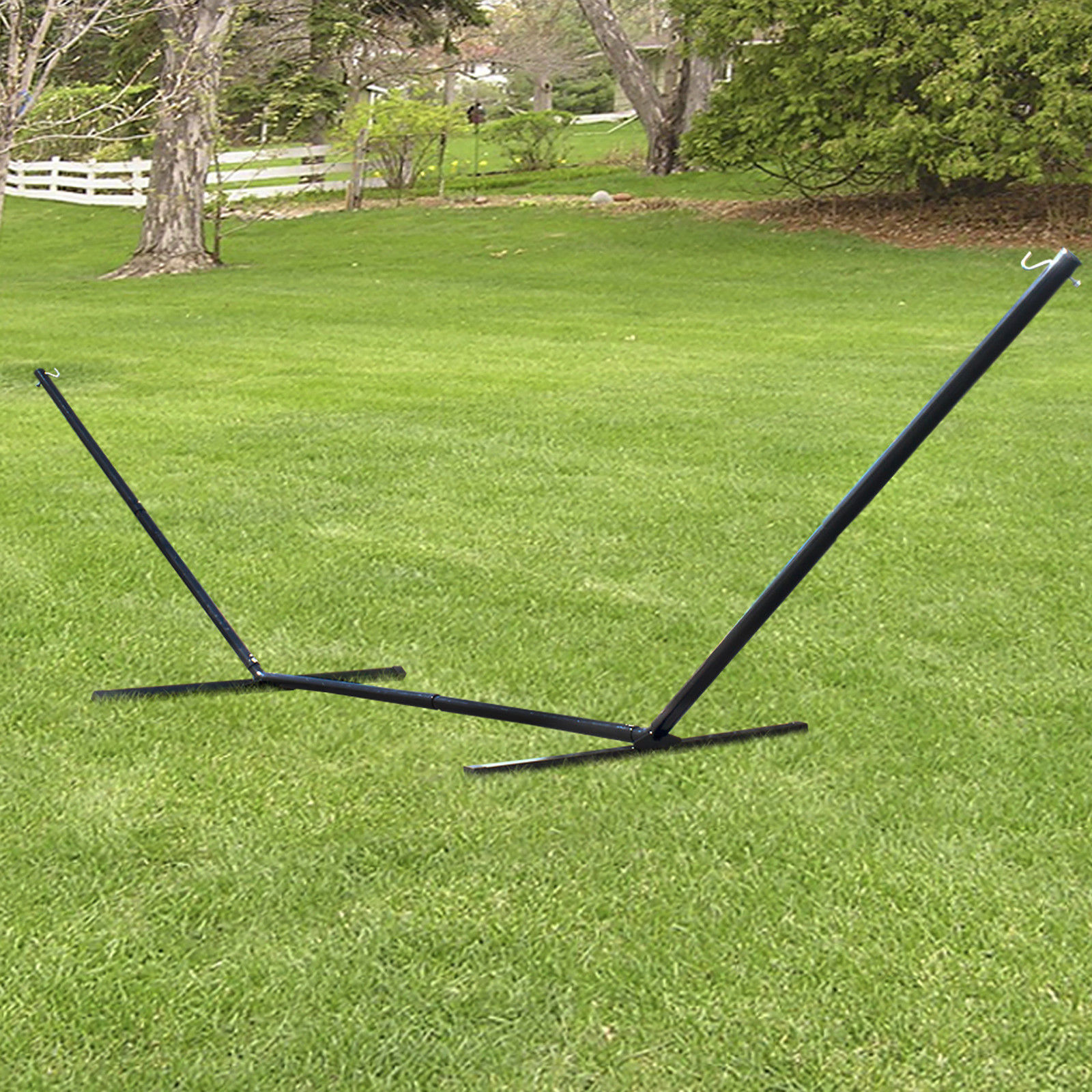 10' Hammock Stand Solid Steel Tri Beam Construction  Z2694