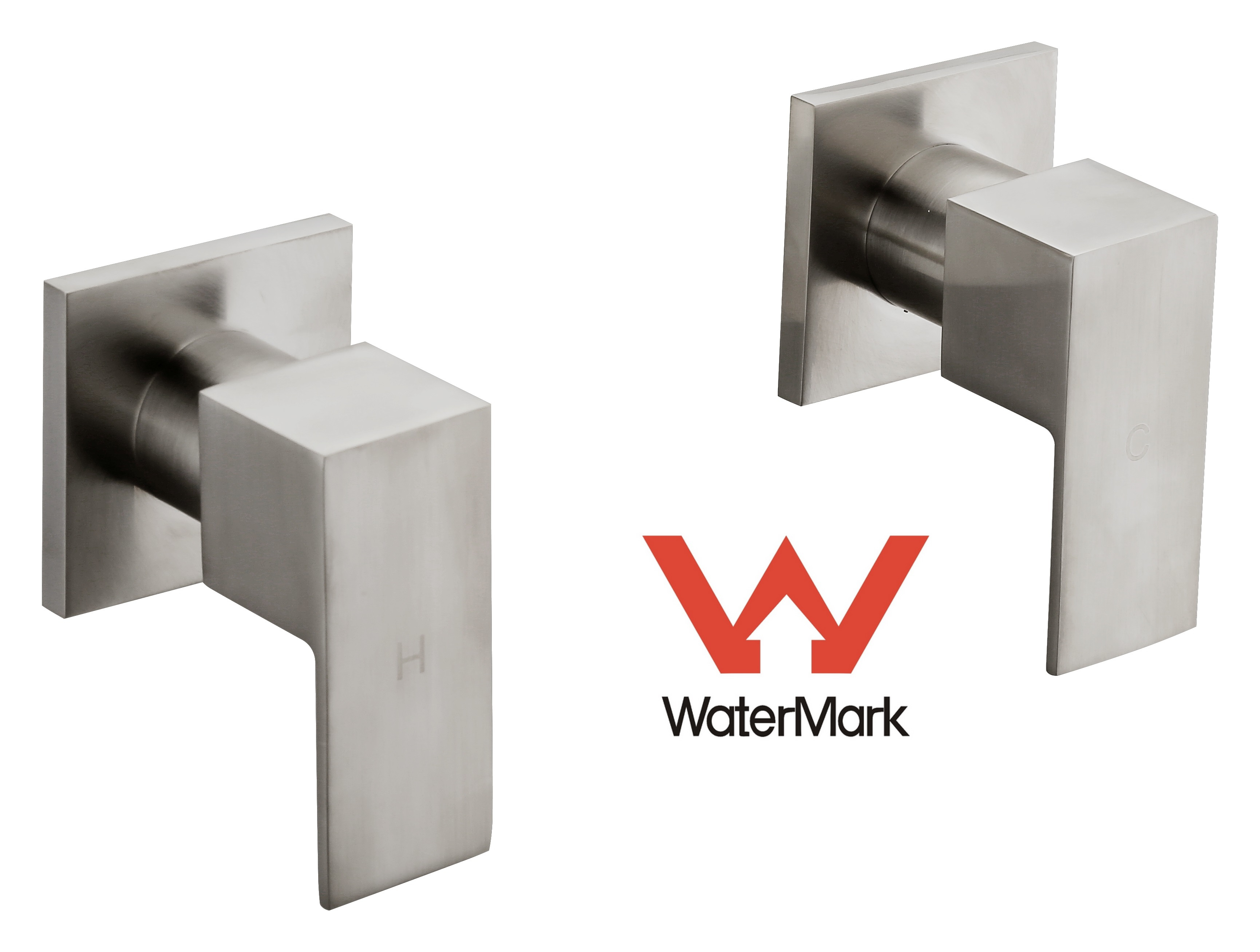 Chrome Bathroom Shower / Bath Mixer Tap Set with Brushed Finish w/ WaterMark  Z2702