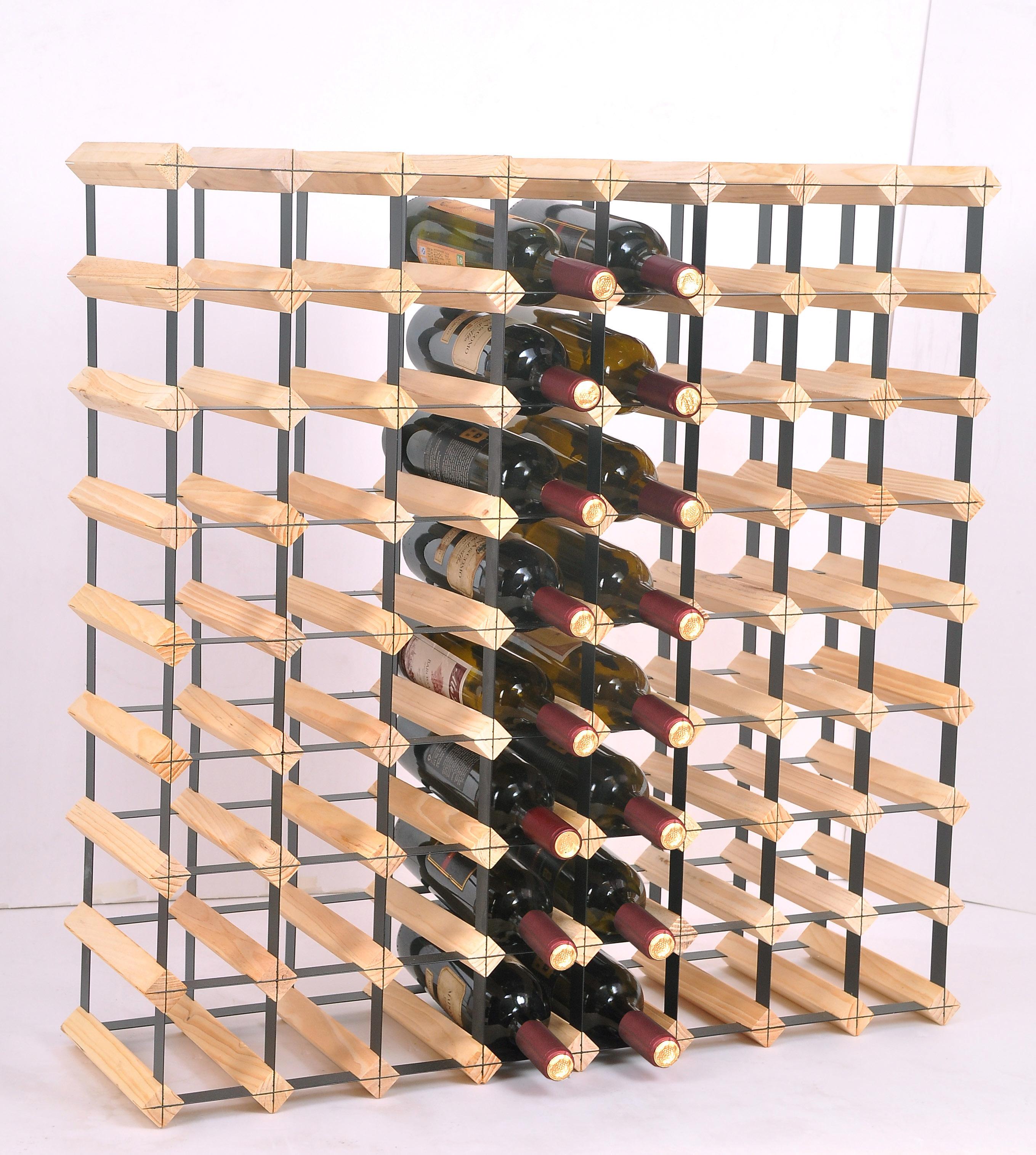 72 Bottle Timber Wine Rack - Complete Wooden Wine Storage System  Z2707