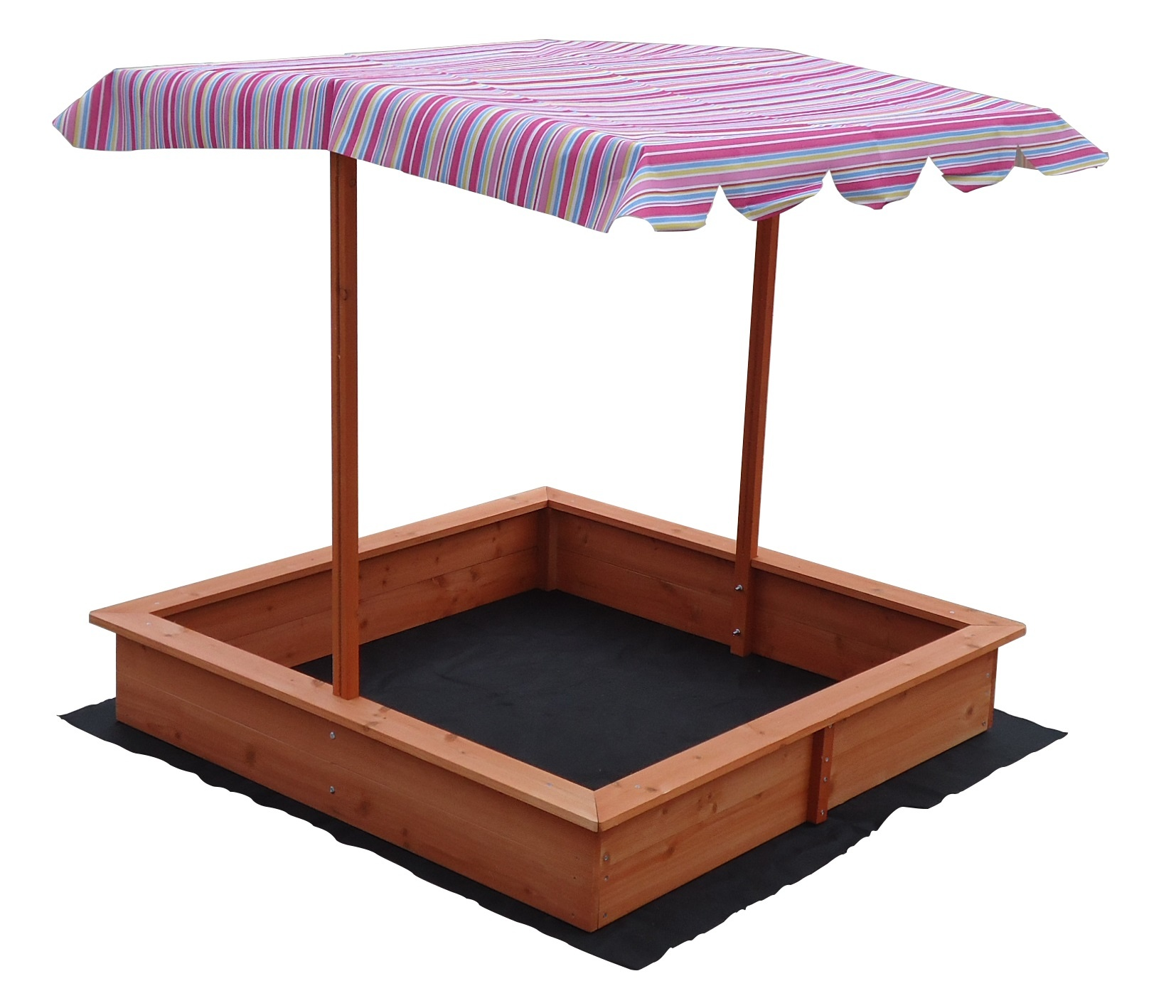 Kids Wooden Toy Sandpit with Adjustable Canopy  Z2708