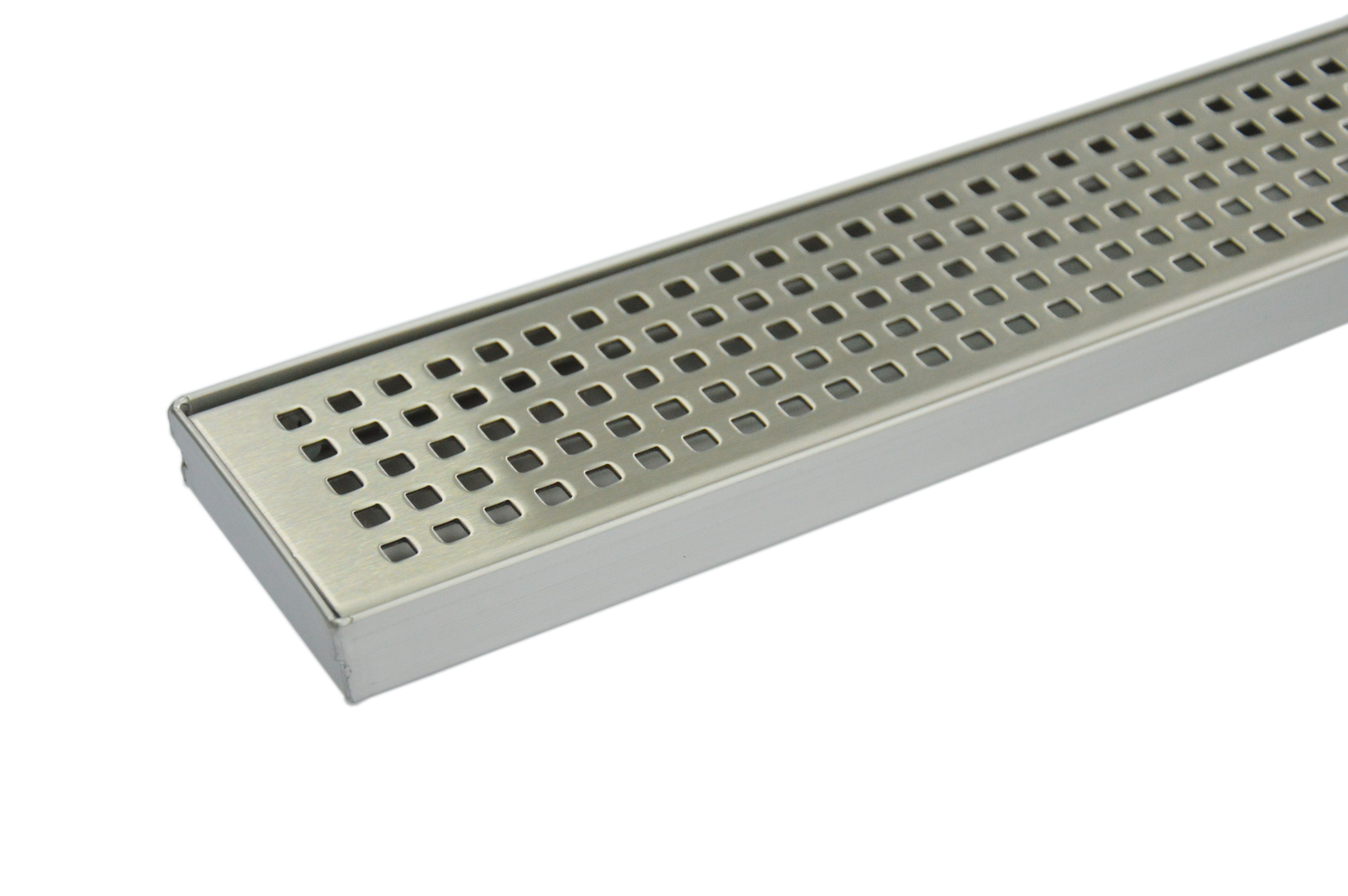 900mm Bathroom Shower Stainless Steel Grate Drain w/Centre outlet Floor Waste Square Pattern  Z2711