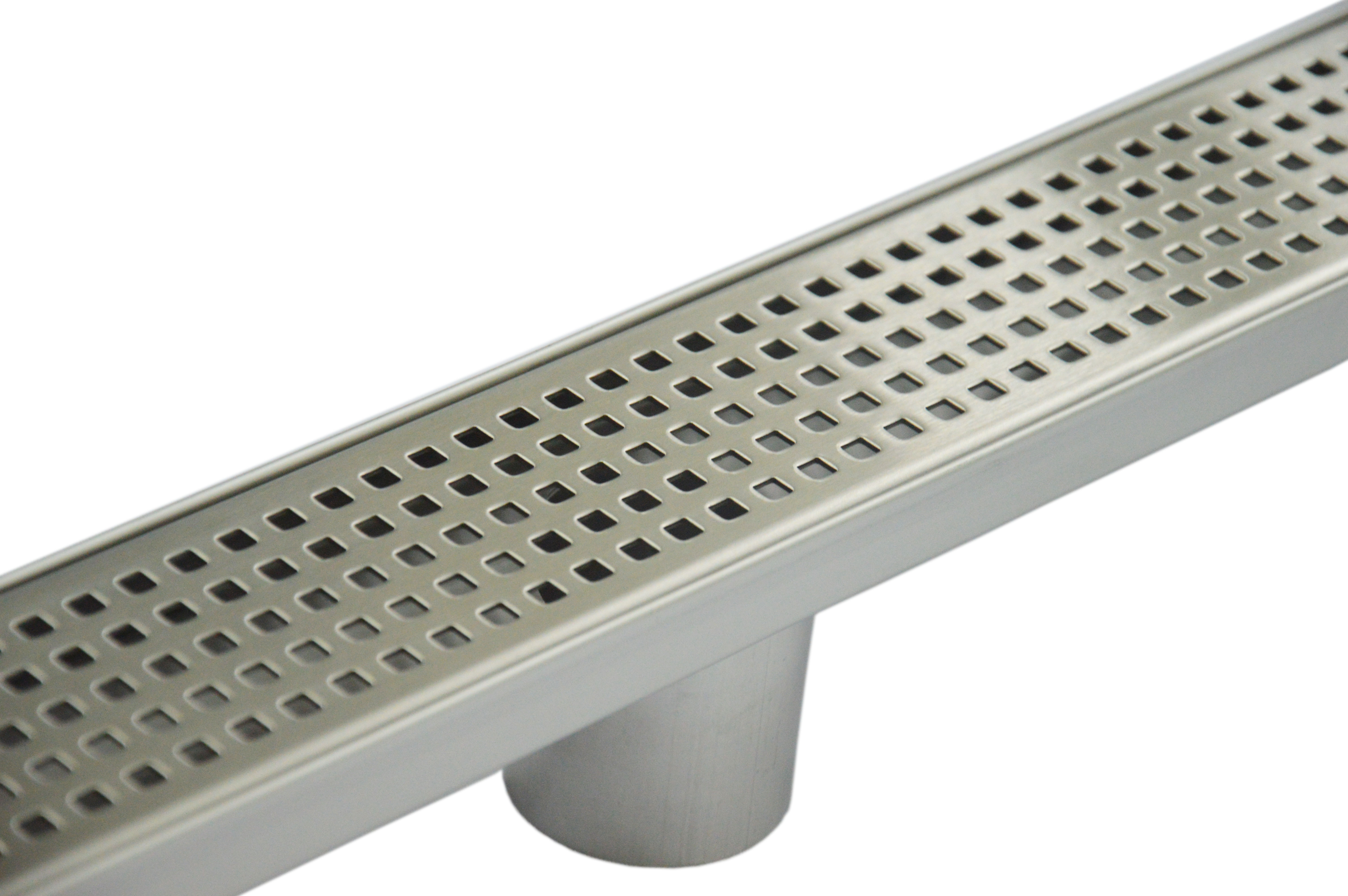 800mm Bathroom Shower Stainless Steel Grate Drain w/Centre outlet Floor Waste  Z2712