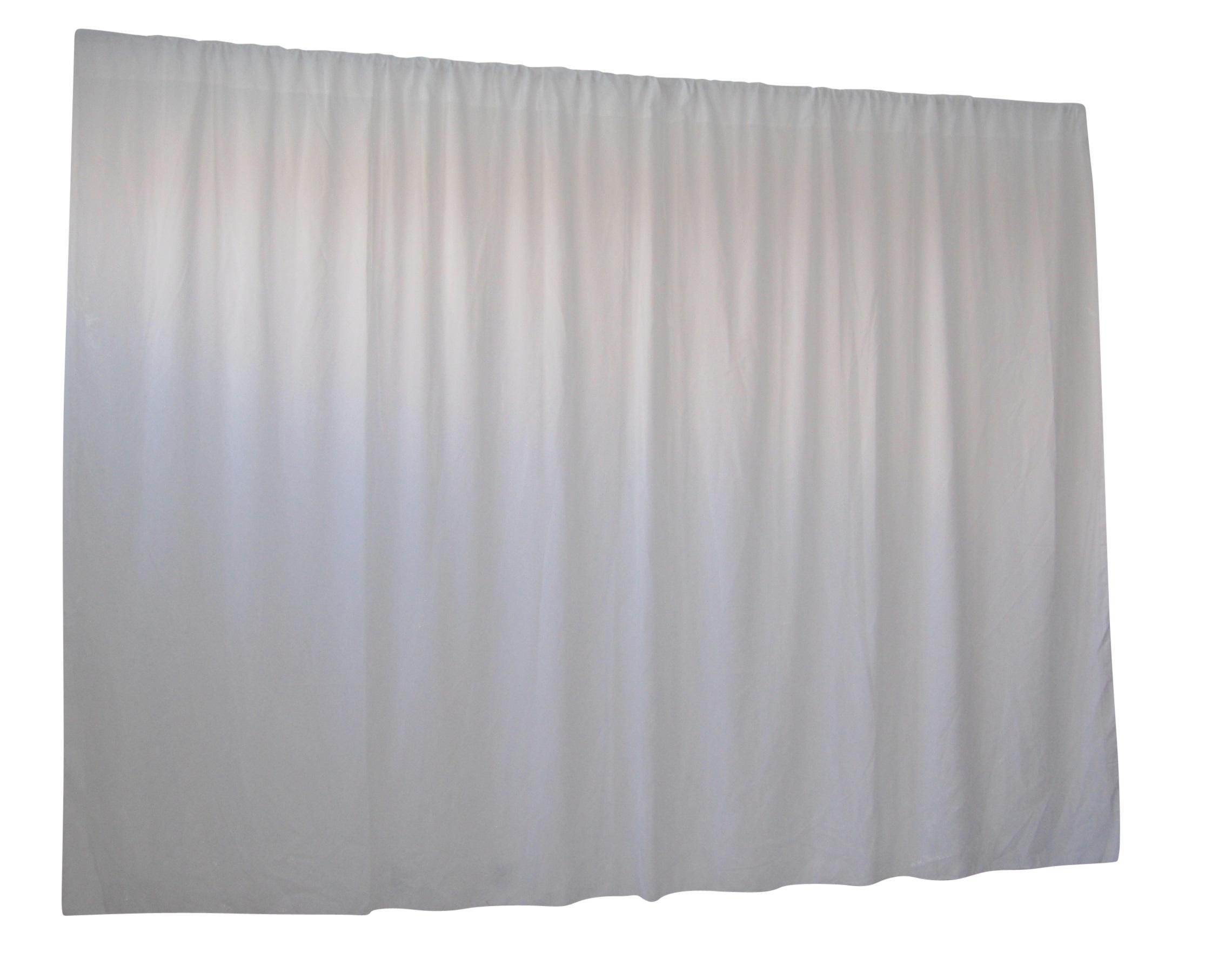 2.8M X 4M White Wedding Drape Backdrop Curtain  Z2717