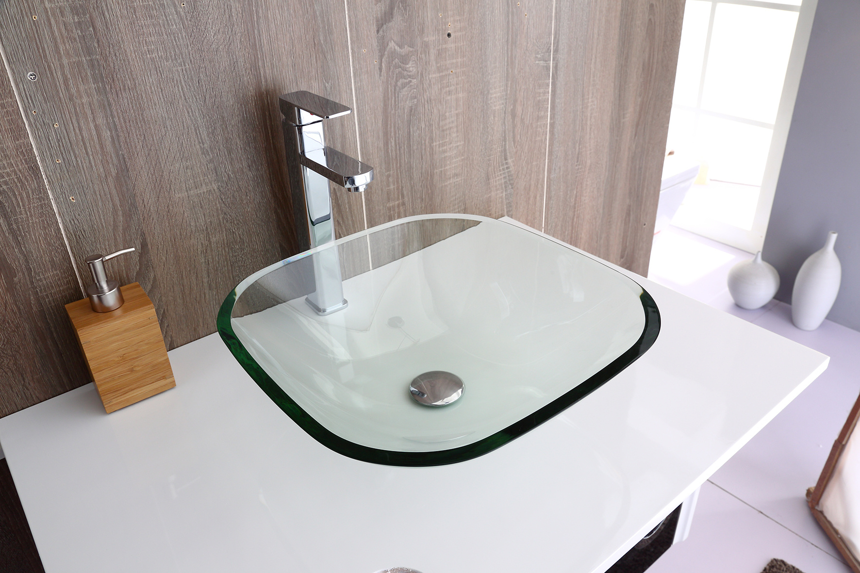 12mm Tempered Glass Above Countertop Basin for Vanity  Z2719