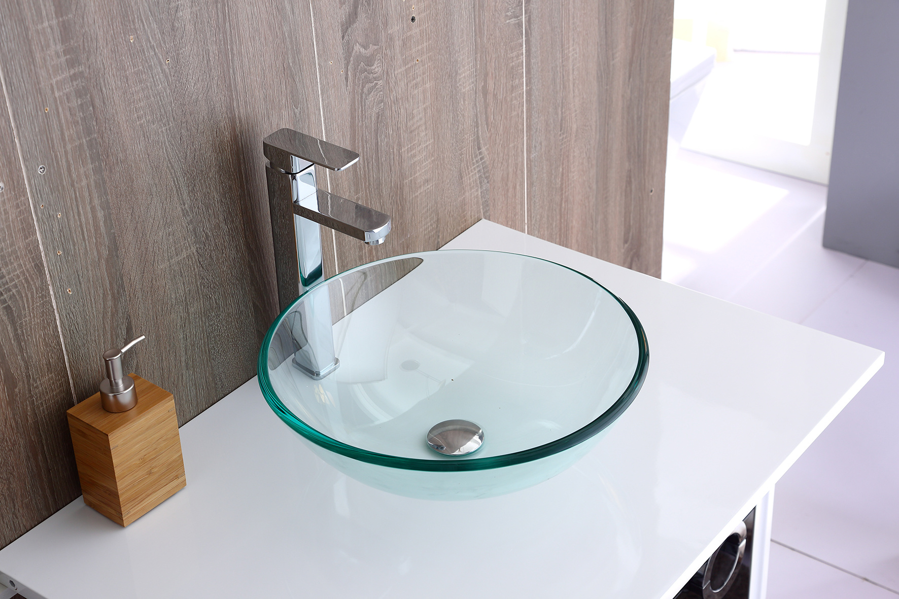 12mm Tempered Glass Above Countertop Basin for Vanity  Z2720