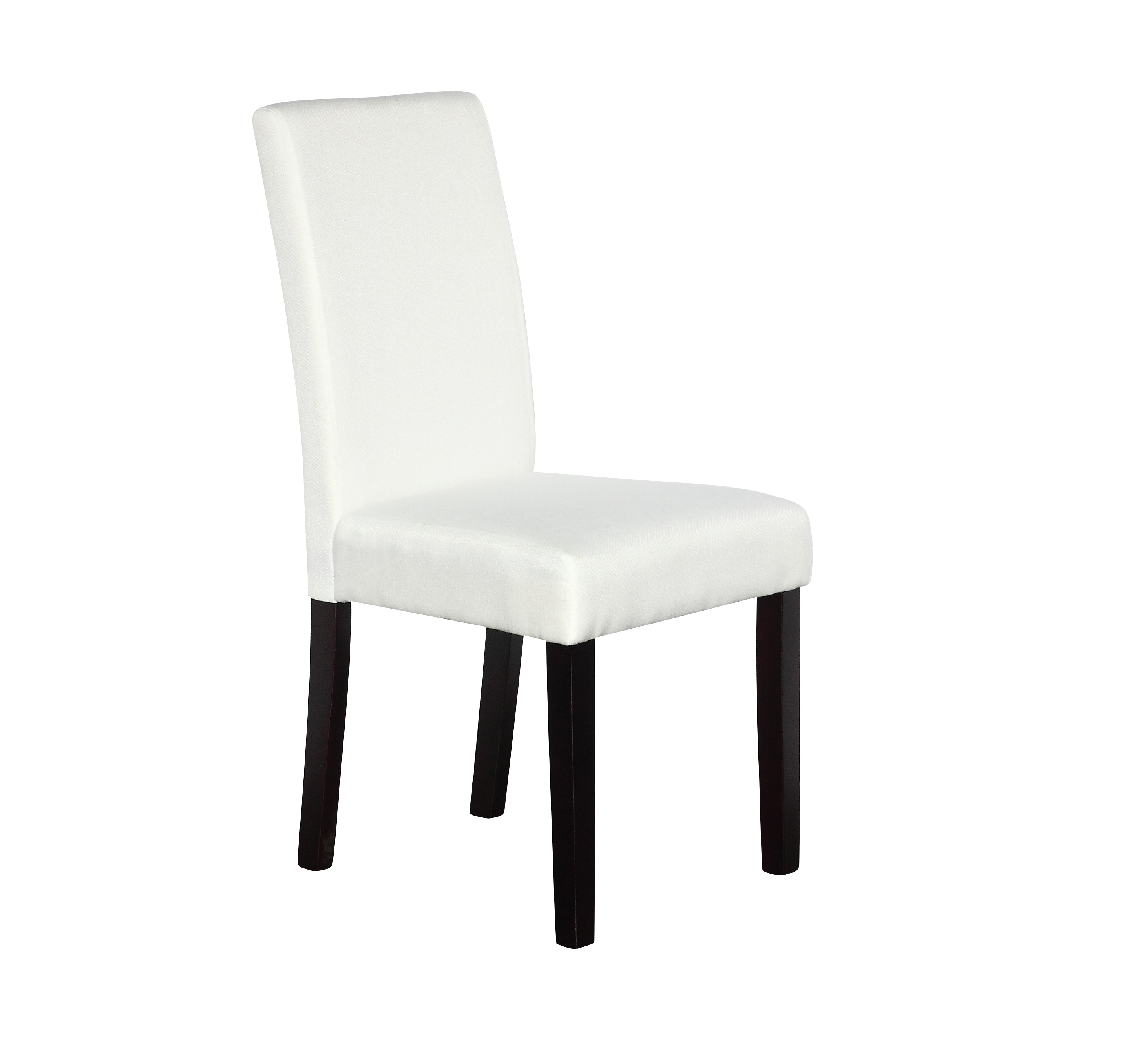 2 x Premium Fabric Linen Palermo Dining Chairs High Back - White  Z2721