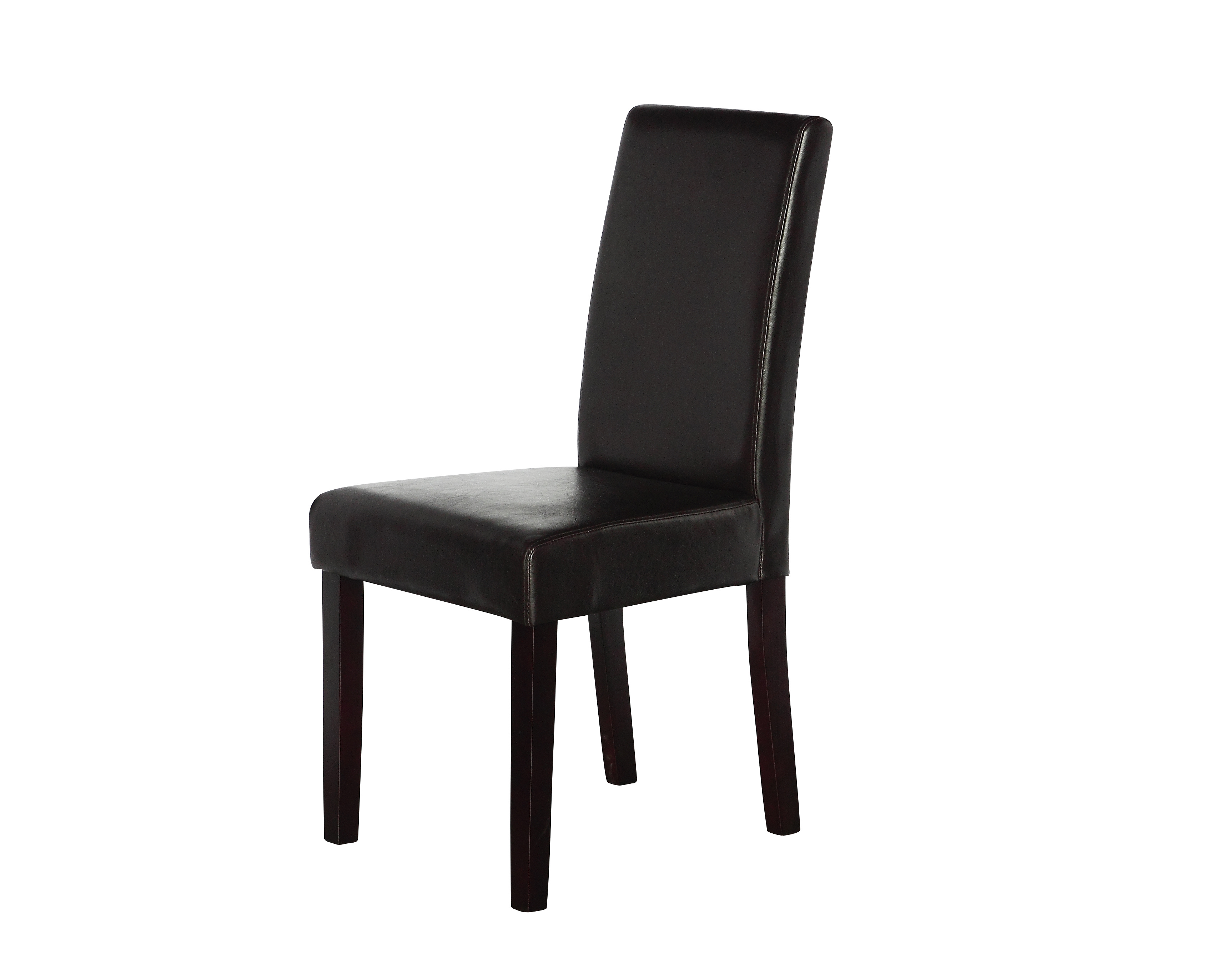 2 x PU Leather Palermo Dining Chairs High Back - Brown  Z2726