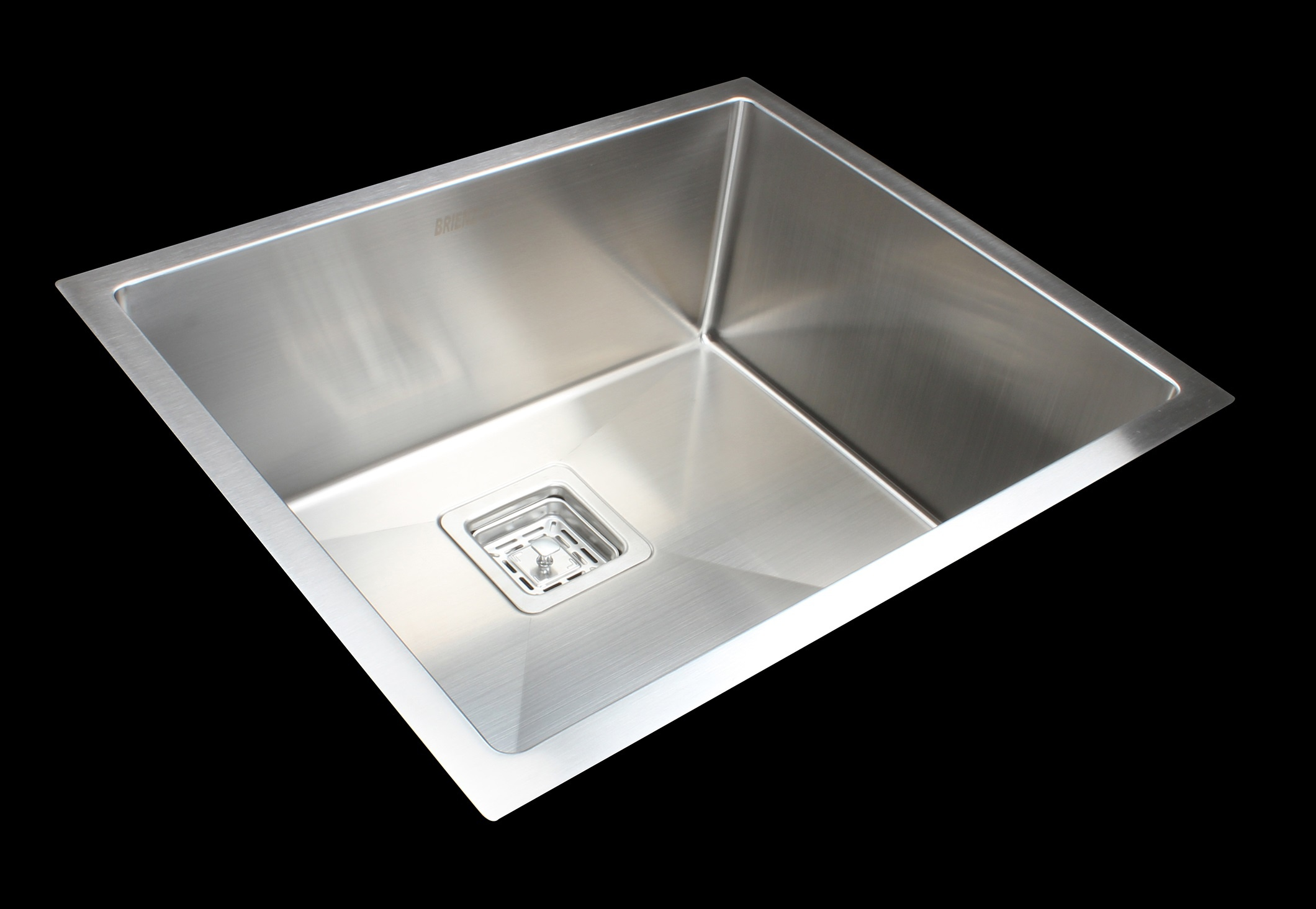 550x455mm Handmade 1.5mm Stainless Steel Undermount / Topmount Kitchen Sink with Square Waste  Z2741