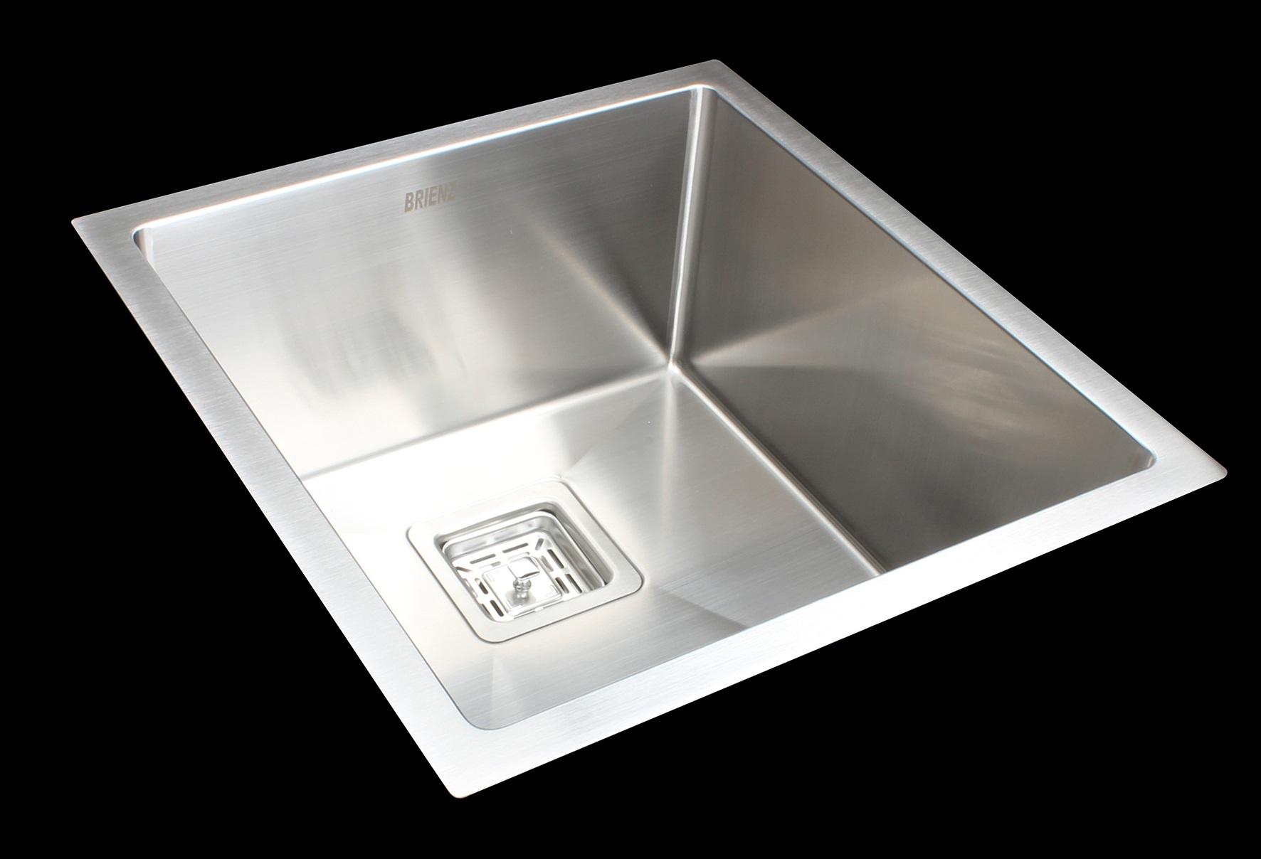430x455mm Handmade 1.5mm Stainless Steel Undermount / Topmount Kitchen Sink with Square Waste  Z2742