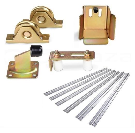 Sliding Gate Hardware Accessories Kit - 6m Track, Wheels, Stopper, Roller Guide  Z2749
