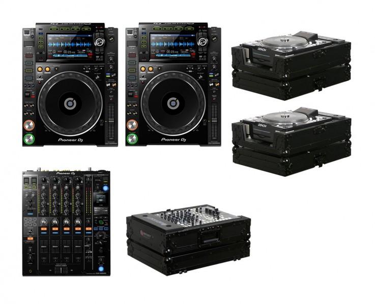 2x Pioneer CDJ-2000NXS2 + DJM-900NXS2 +
