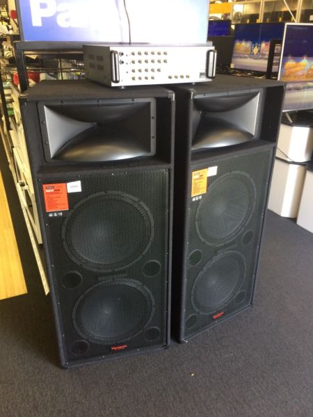 Monarch dual 500w sdj-3004 speakers with