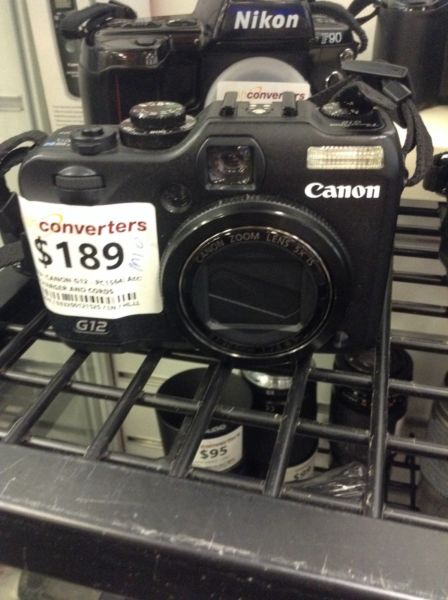 CANON G12 CAMERA BW:121525