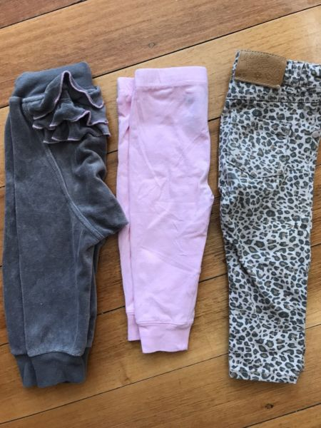 Baby girl pants and jeans size 1