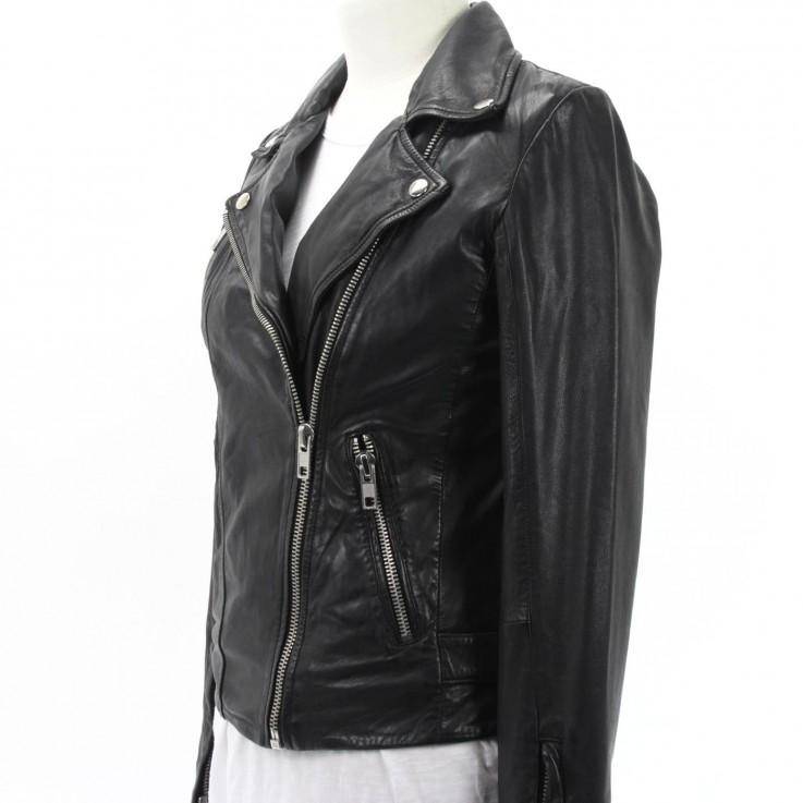 REBEL BIKER JACKET  Black Leather