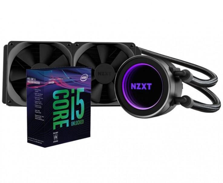 Intel Core i5 8600K CPU with NZXT Kraken