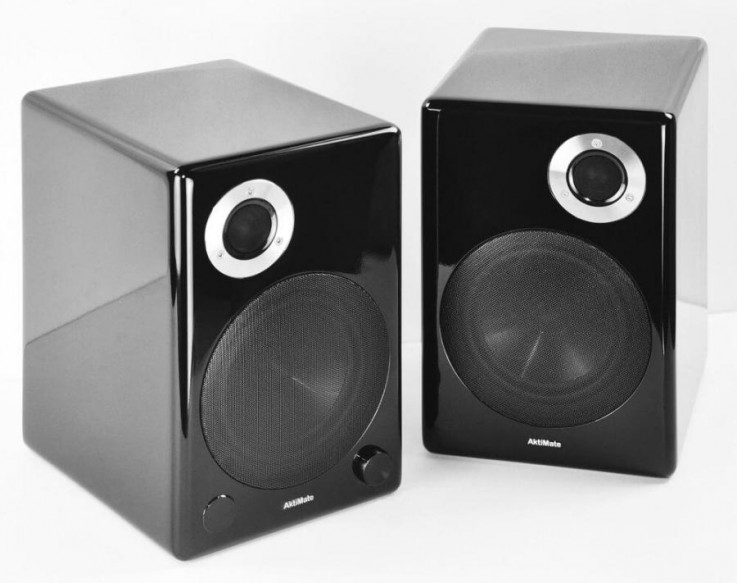 AktiMate Blue Loudspeakers, Black Colour