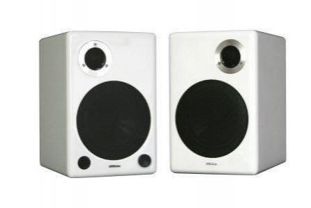 AktiMate Blue Loudspeakers, Glossy White