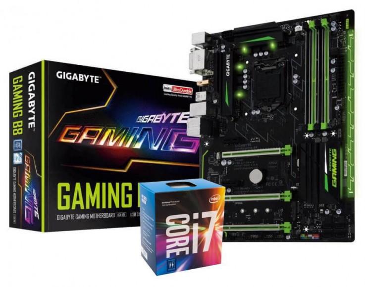 Intel Core i7 7700 CPU with Gigabyte GA-