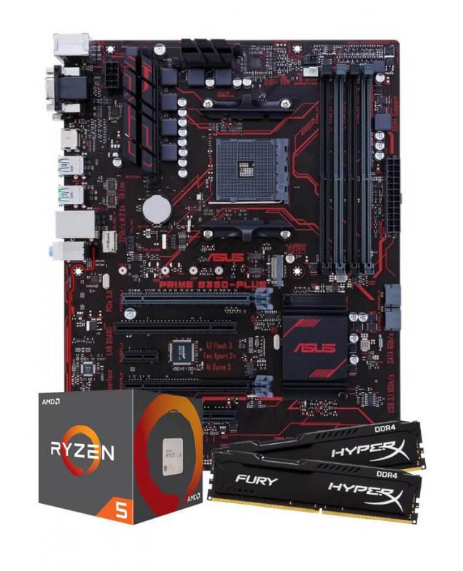 AMD Ryzen 5 1600 CPU with Asus B350-Plus