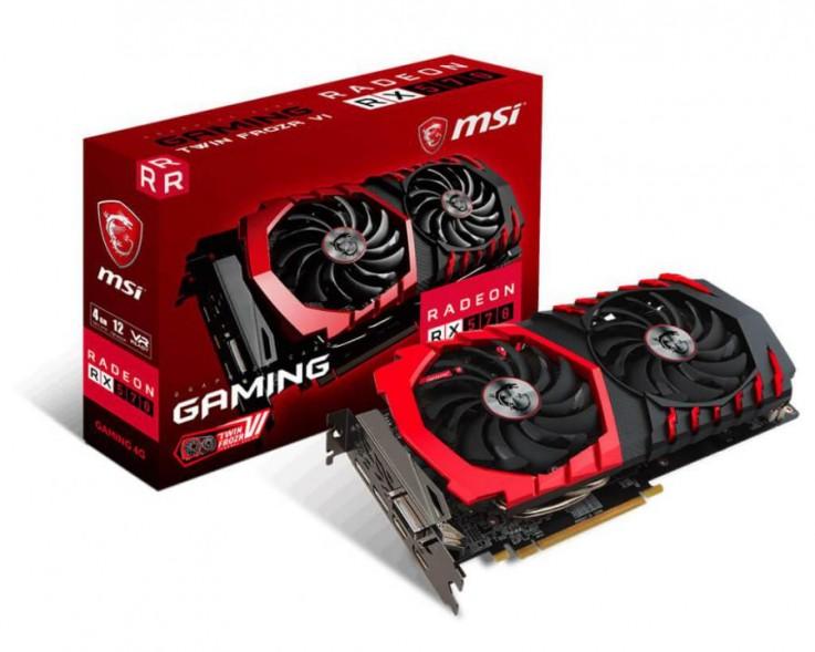 MSI Radeon RX 570 Gaming X, 4GB