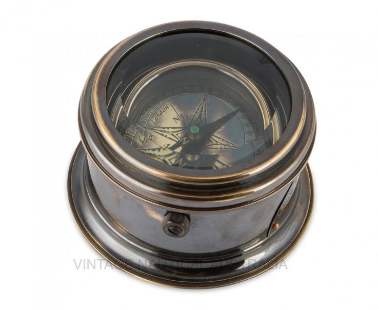 Compass – Drum (Royal Navy) Brass Antiqu