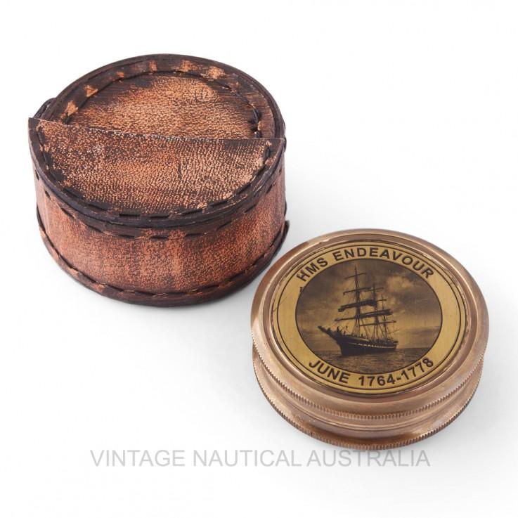 Compass – HMS Endeavour Brass Antique Fi