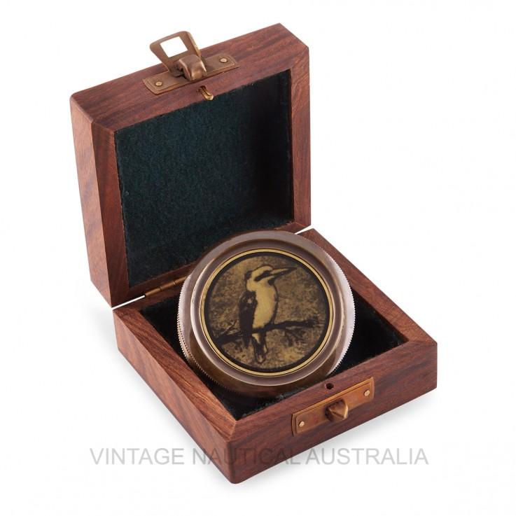Compass – Kooka / Kingfisher Brass Antiq