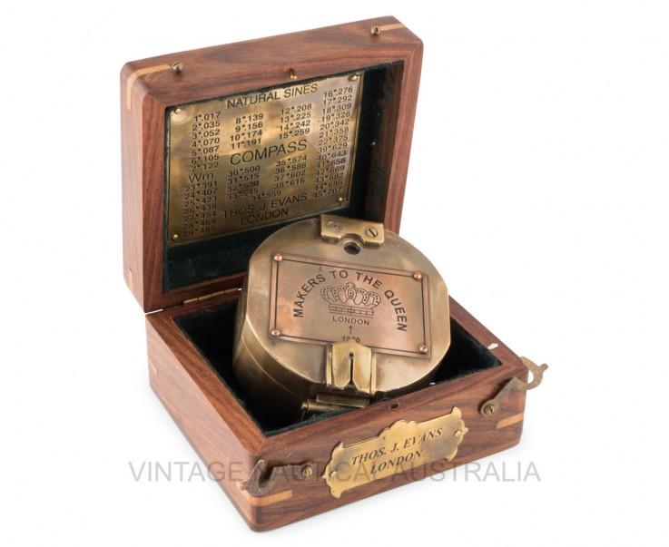 Sundial Compass Brunton Brass Antique Fi
