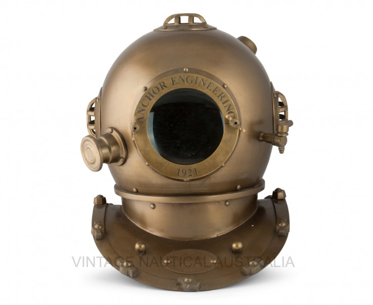 Divers Helmet (Scuba) Green Antique Fini