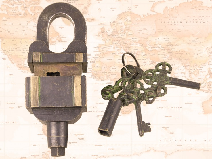 Padlock – 3 Keys Brass Antique Finish St
