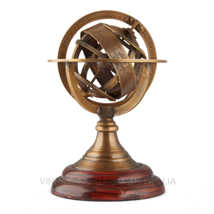 World Globe – Brass Armillary Globe (sma